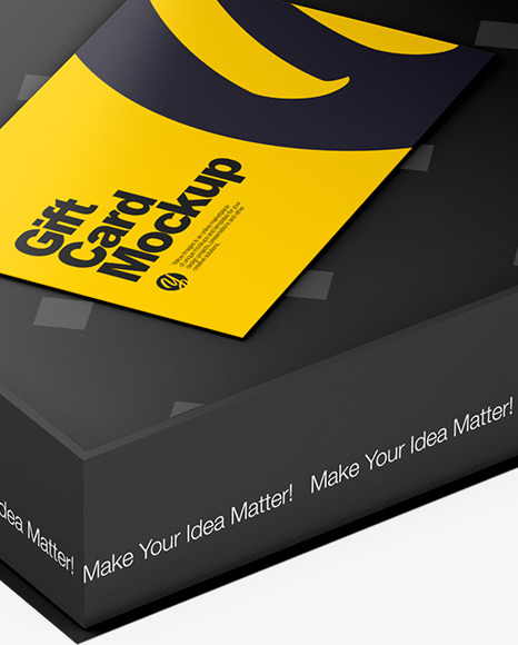 Gift Business Cards in a Box Mockup
