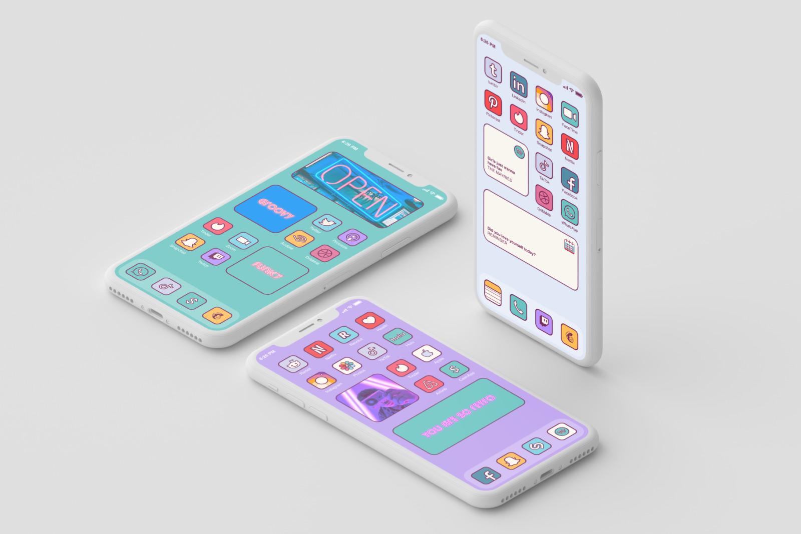 iOS 14 Home Screen Retro Icons