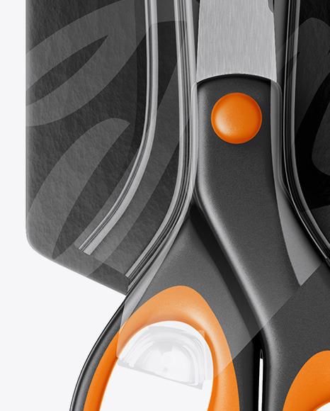 Scissors Blister Pack Mockup - Front View