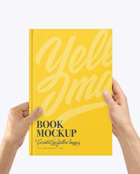 Book Mockup in Hands