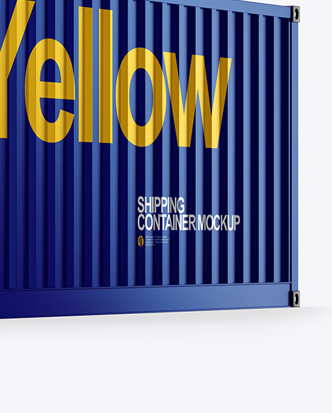 Shipping Container Mockup Half View
