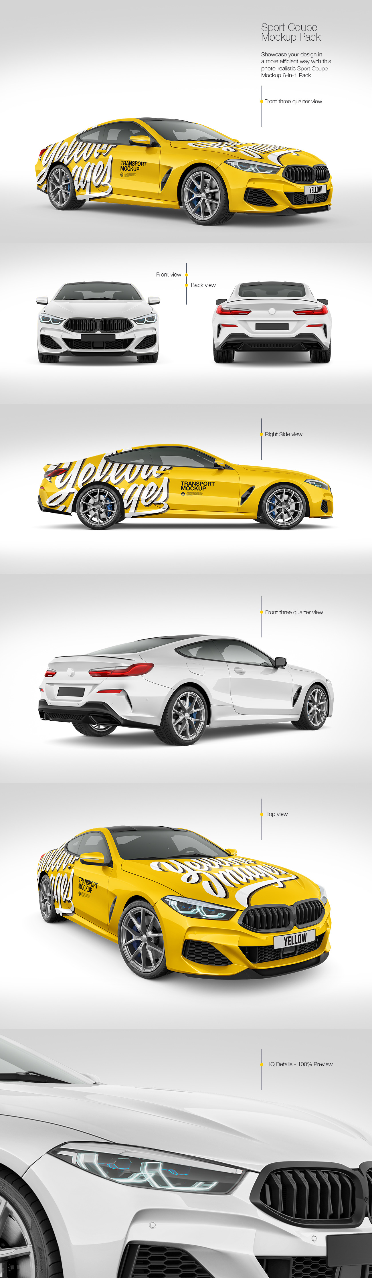Coupe Car Mockup Pack