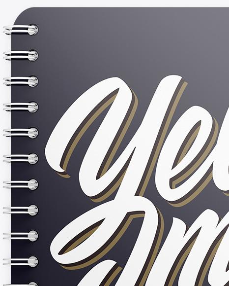 Spring Notebook Mockup