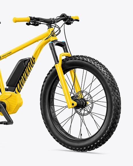 Fat Bike Mockup - Half Side View