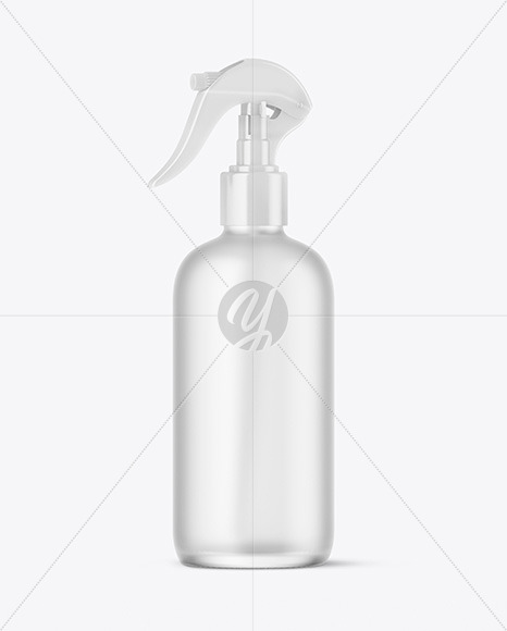Frosted Glass Spray Bottle Mockup