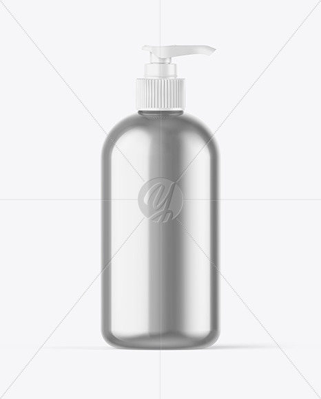 Metallic Bottle w/ Closed Pump Mockup