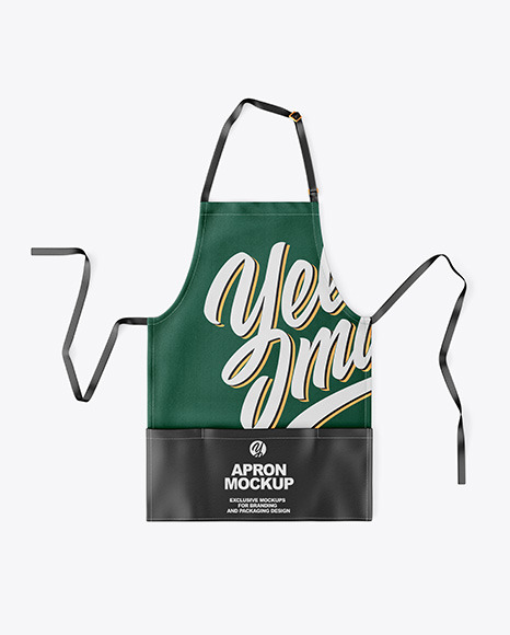 Apron With Leather Parts Mockup - Top View