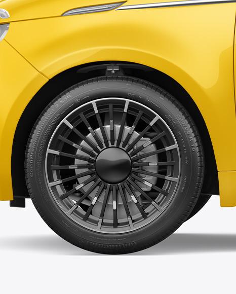 EV Compact Car Mockup - Left Side View