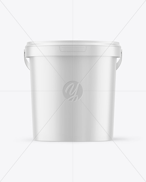 Matte Plastic Bucket Mockup