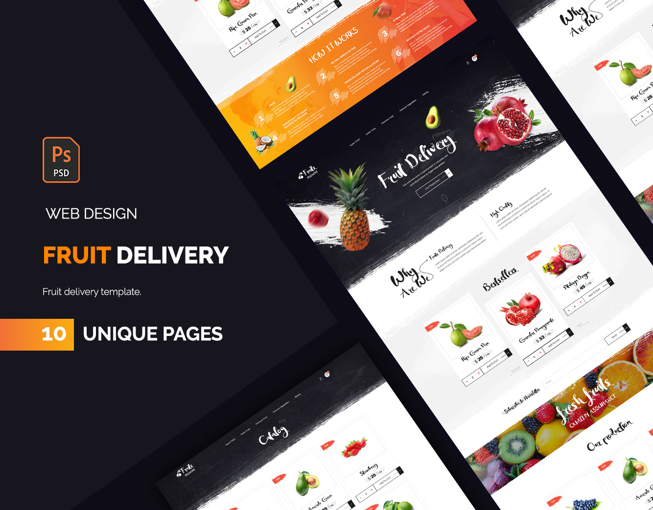 Fruit delivery UI kit