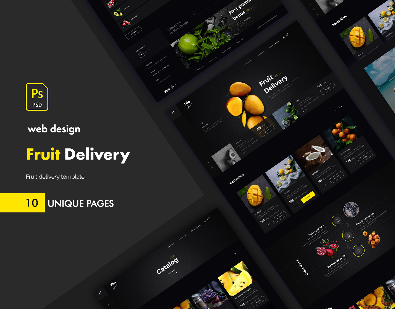 Fruit delivery2 UI kit