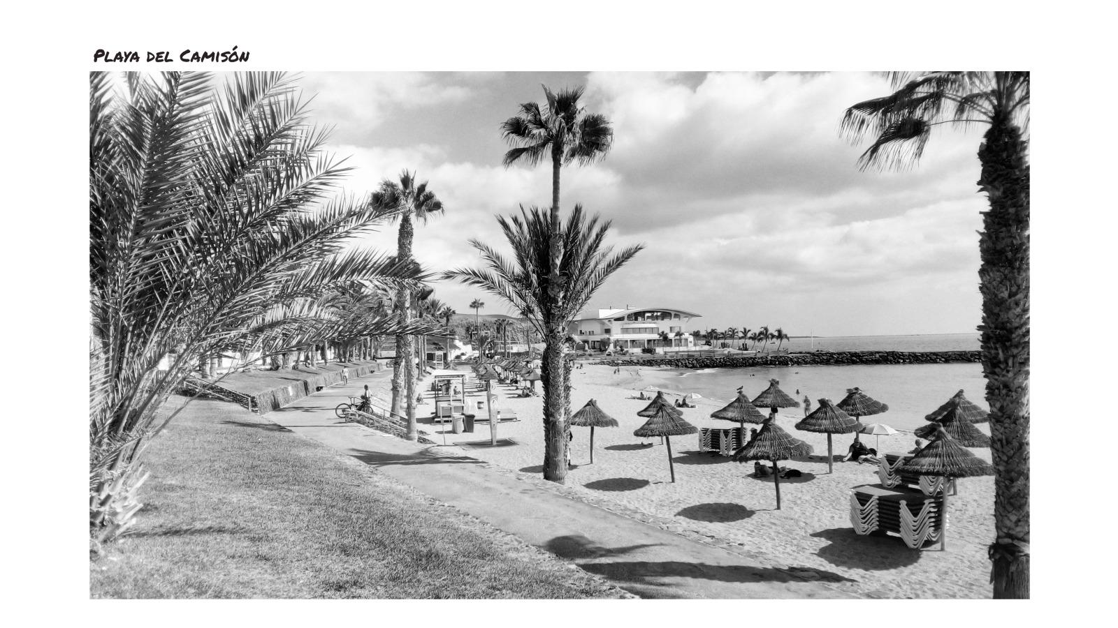 Black and White Tenerife Landmarks