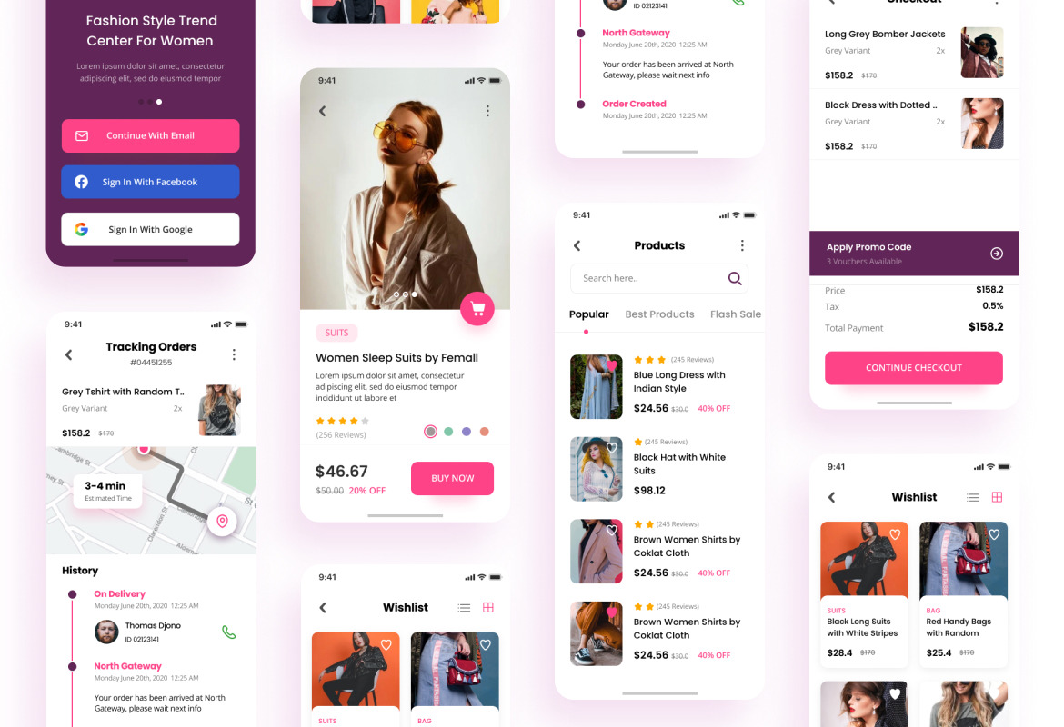 Wedo - Fashion Store iOS App Design UI Template