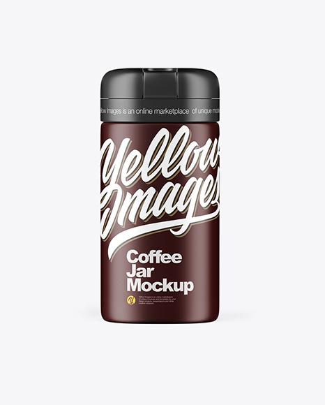 Matte Coffee Jar Mockup