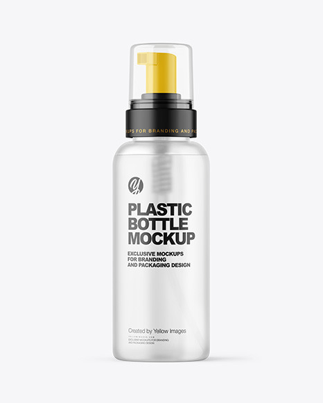 Frosted Cosmetic Bottle with Pump Mockup