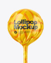 Red & White Ball Lollipop Mockup
