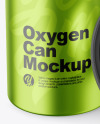 Metallic Oxygen Can W/ Inhaler Cap