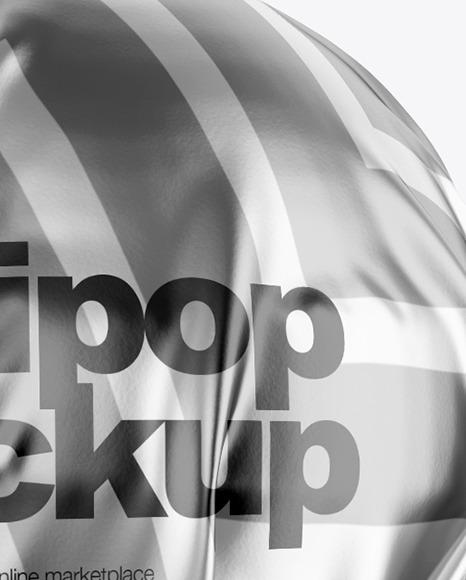 Black Ball Lollipop Mockup