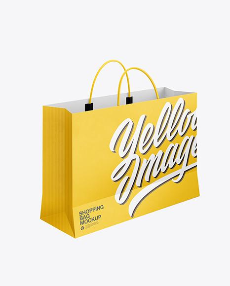 Paper Shopping Bag Mockup
