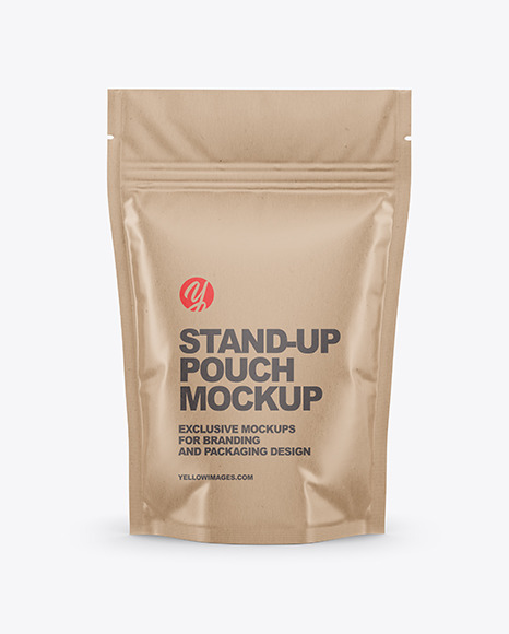 Kraft Stand Up Pouch Mockup