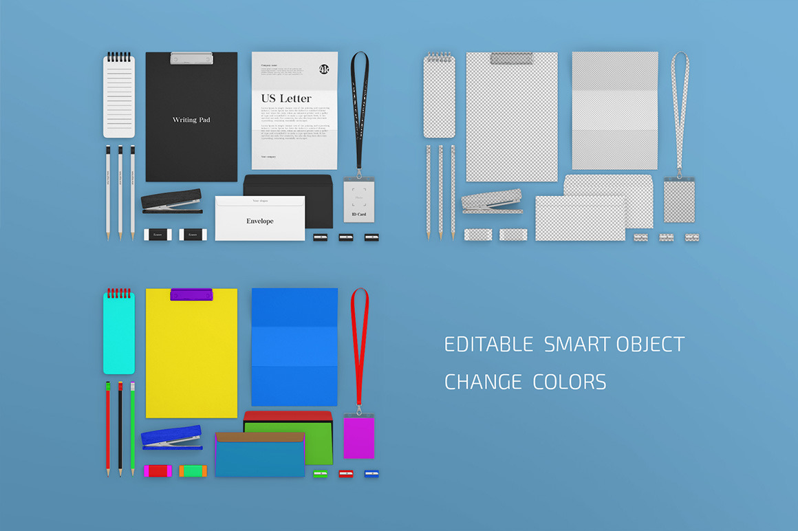 Download Stationery Mockup Set In Stationery Mockups On Yellow Images Creative Store Yellowimages Mockups