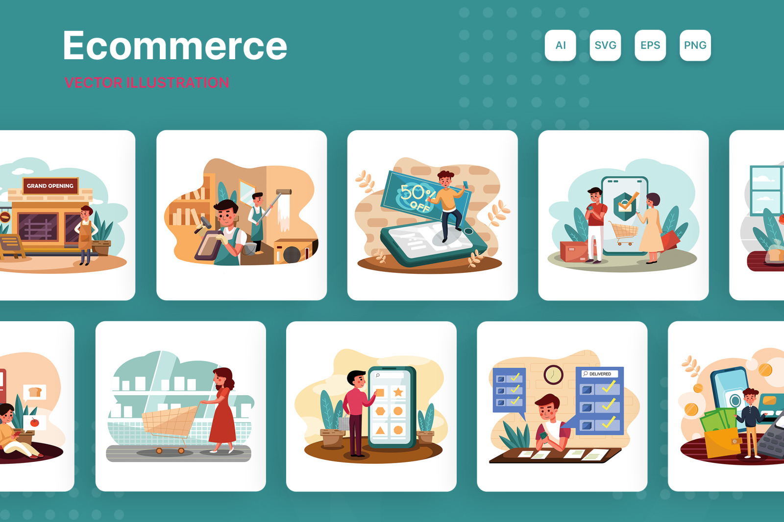 M164_Ecommerce Illustration Pack