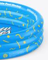 Inflatable 3-ring Pool Mockup - High Angle Shot
