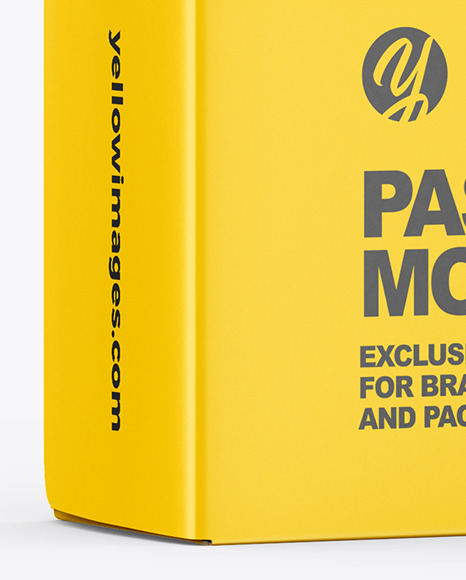 Mafaldine Pasta Box Mockup