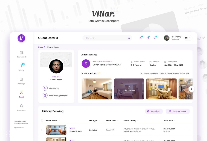 Villar - Hotel Booking Admin Dashboard