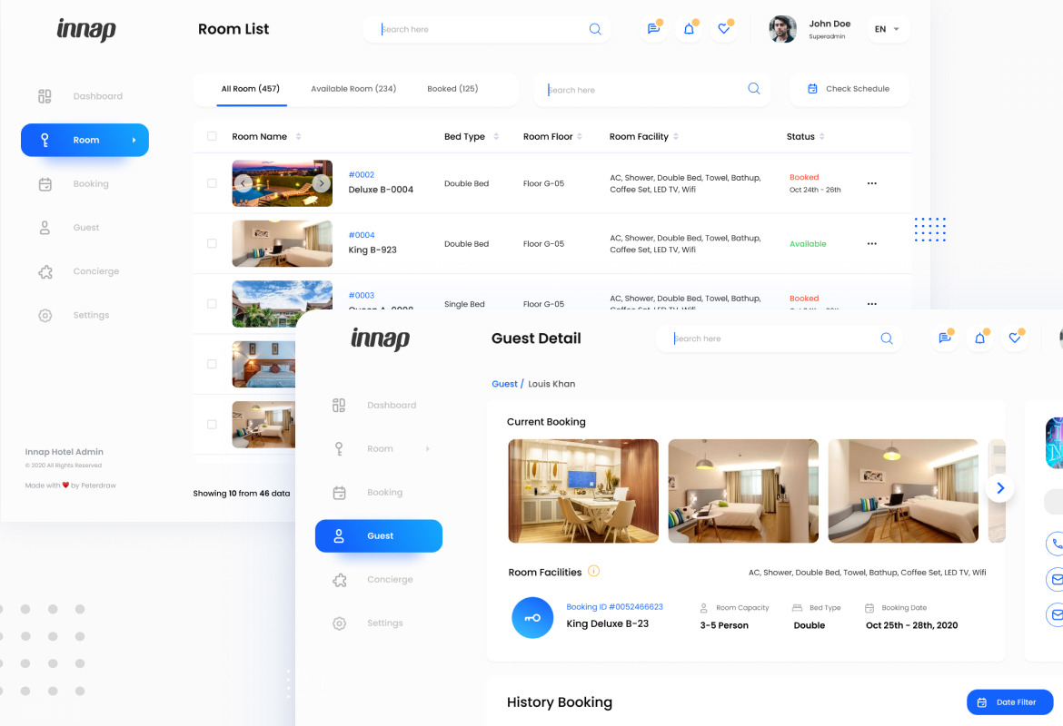Innap - Hotel Booking Dashboard UI Template