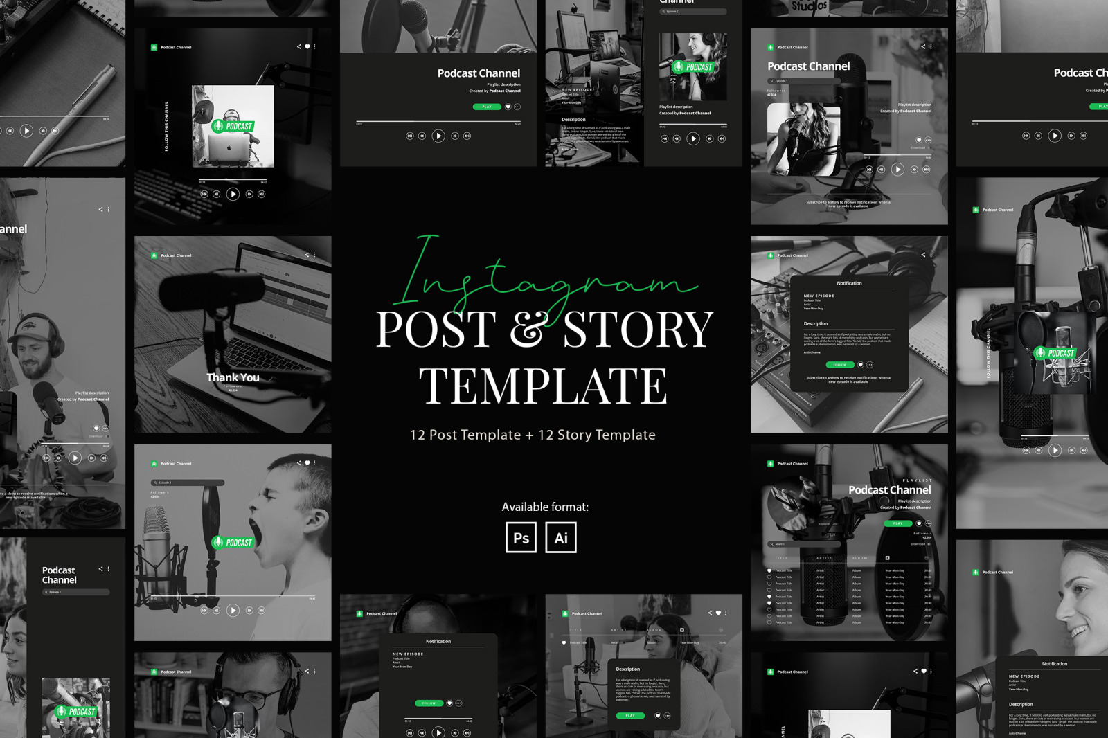 Podcast Instagram Post and Story Template