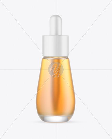 Frosted Glass Dropper Bottle w/ Oil Mockup