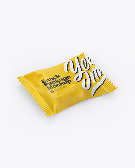 Glossy Snack Pack Mockup