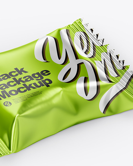 Metallic Snack Pack Mockup
