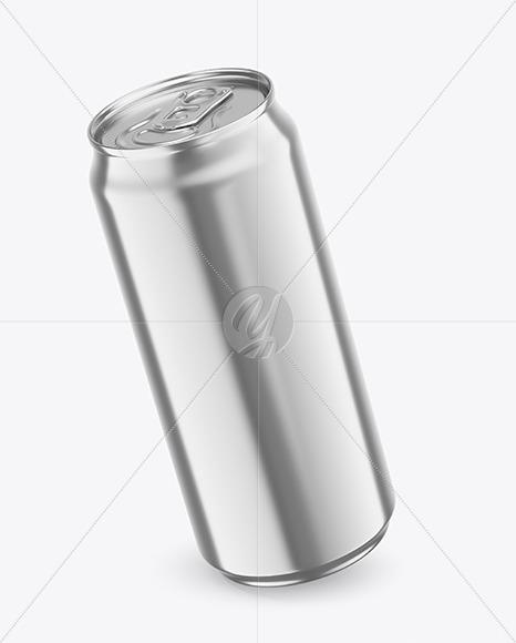 440ml Metallic Drink Can Mockup