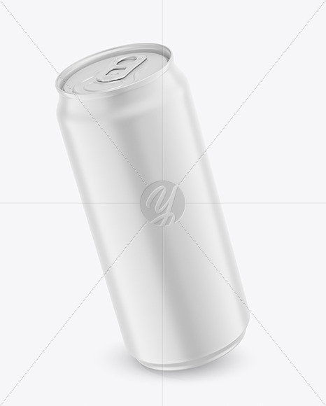 440ml Matte Drink Can Mockup