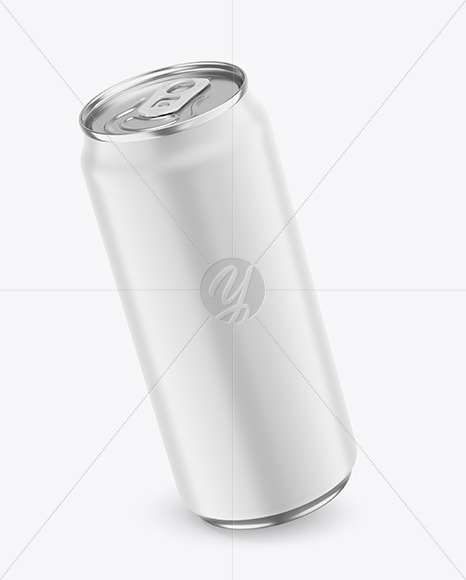 440ml Metallic Drink Can With Matte Finish Mockup