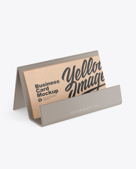 Business Cards with Matte Holder Mockup