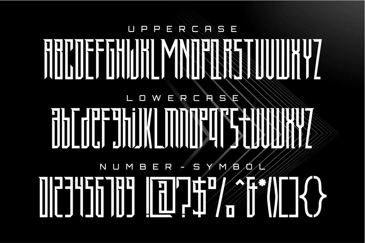 Armor - Condensed Display Font