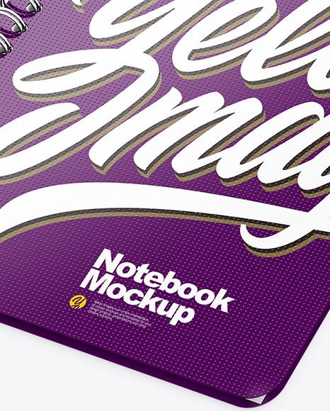 Notebook Mockup - Half Side View