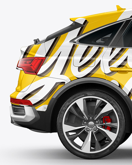 Crossover SUV Mockup – Side View