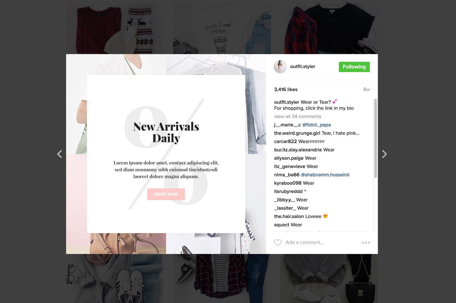 Briley Instagram Pack