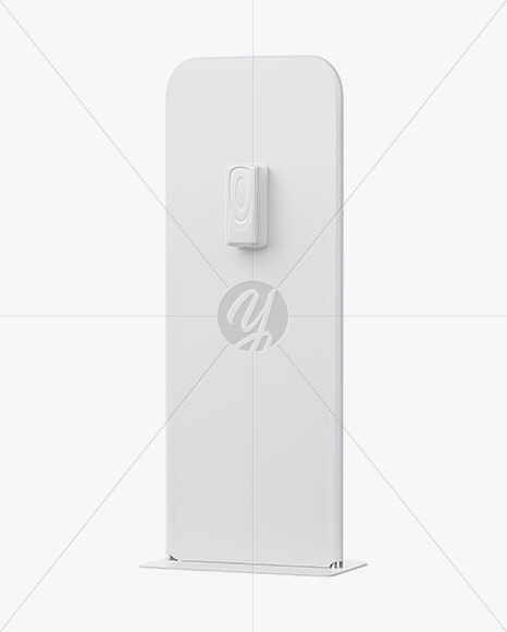 Hand Sanitizer Stand Mockup - Half Side View