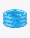 Inflatable 3-ring Baby Pool Mockup - High Angle