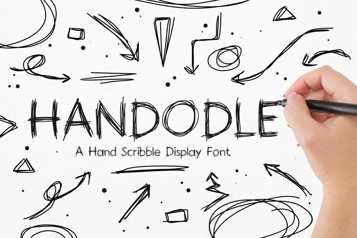 Handodle -  Hand Scribble Display Font