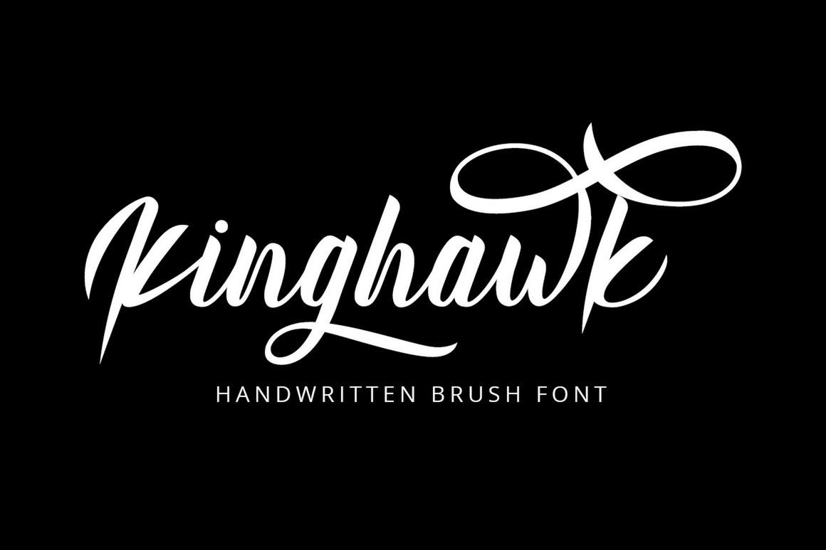 Kinghawk - Natural Handwritten Brush Font