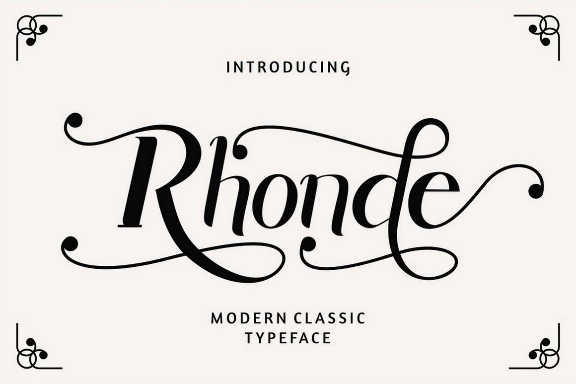 Rhonde - Modern Classic Script Font