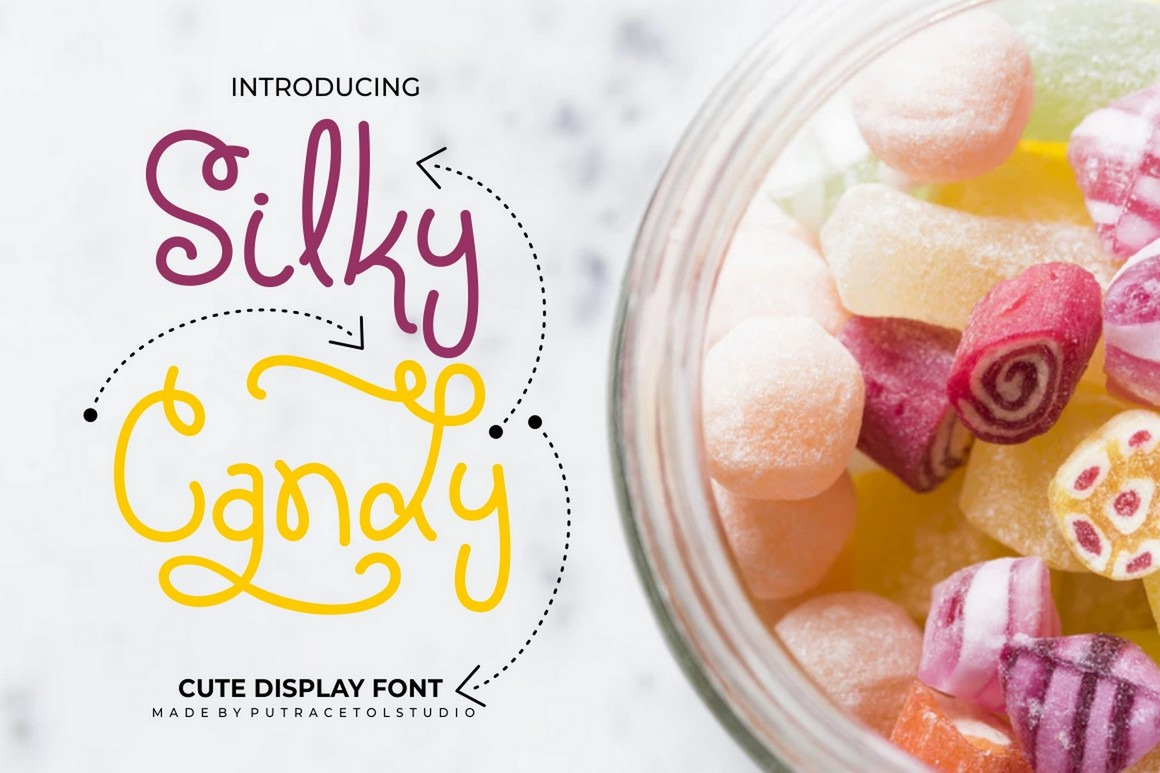 Silky Candy - Sweet Cute Display Font