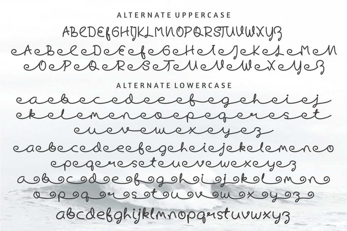 Skywave - Display Cursive Font