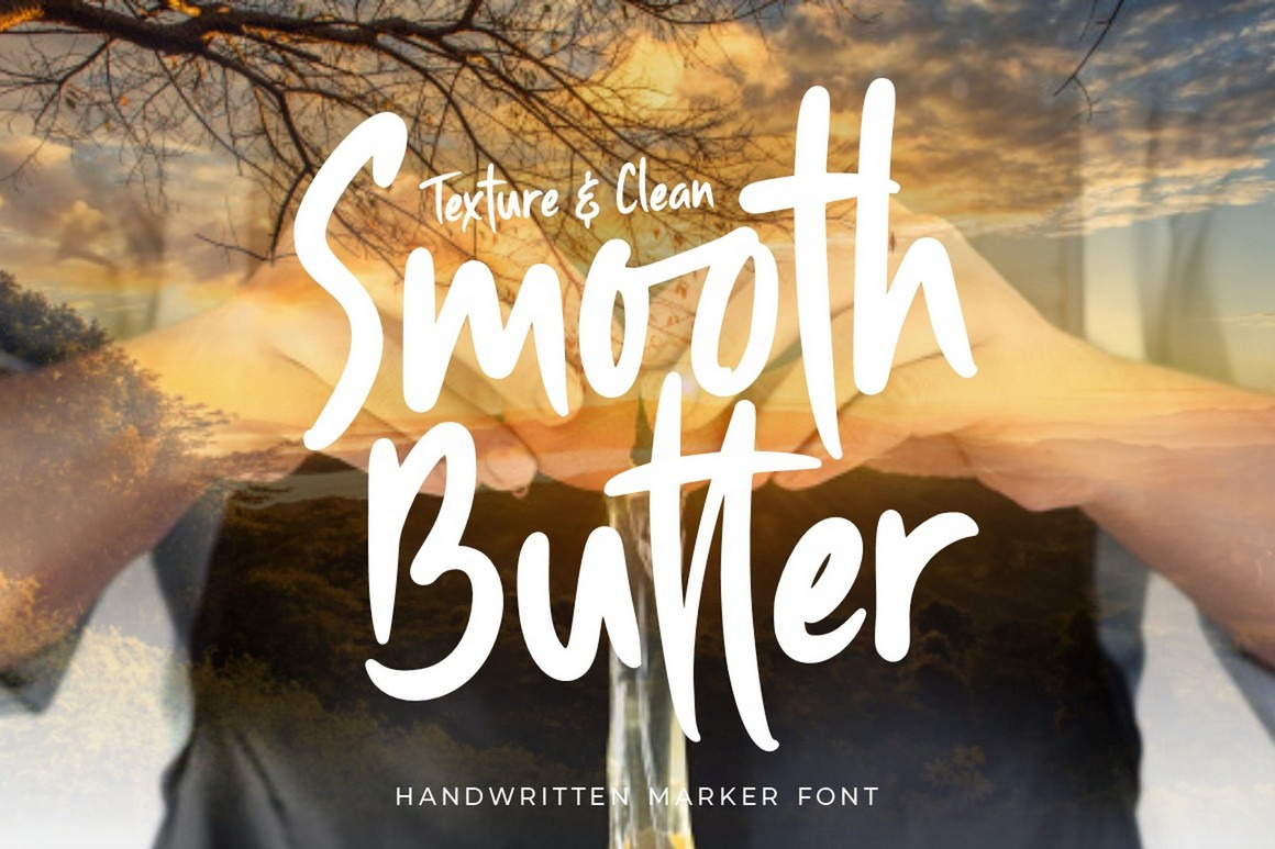 Smooth Butter - Stylish And Casual Handwritten Marker Font